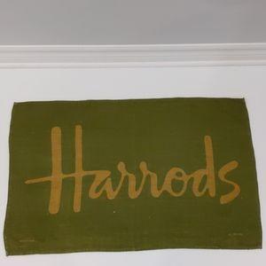 2/$20 Harrods green linen tea towel